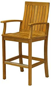 Three Birds Casual Monterey Bar Chair With Arms, Teak from Three Birds Casual