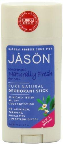 Jason Deodorant Stick For Men, Unscented, 2.5 Ounce