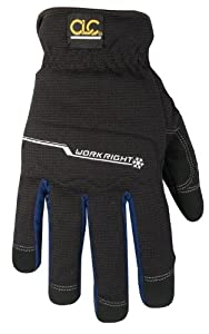 Custom Leathercraft L123L Workright Winter Flex Grip Work Gloves, Large