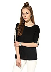 Raindrops Women's Top(1167B003D-Black-XL)