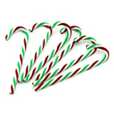 YARUIE Plastic Candy Cane Ornament Fit Christmas Decoration (Pack of 6)