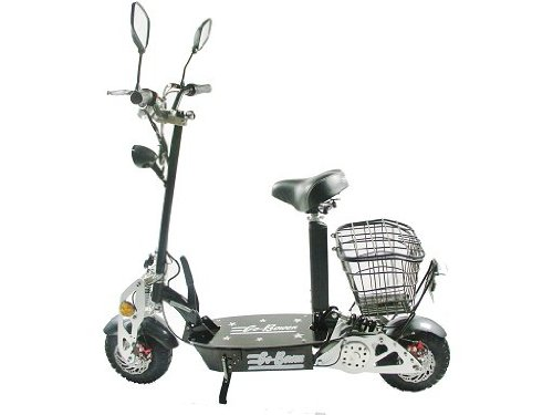 800 Watt Folding Electric Cruising Scooter For Big Kids, Black