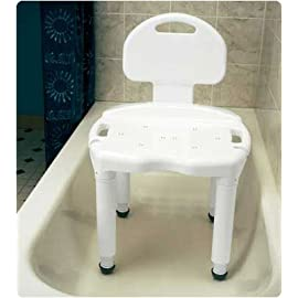 Carex Universal Bath Seat Bench with Back