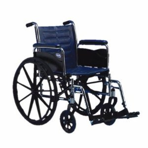Invacare TREX20P Tracer EX2 Wheelchair - 20 x 16 Inch with Permanent Arms