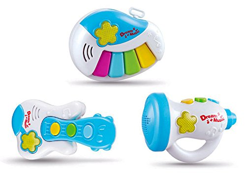 Set-of-3-Dream-Musical-Light-Up-Toy-Instruments-for-Toddlers-Piano-Guitar-Trumpet