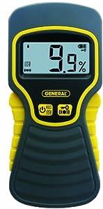 General Tools & Instruments MMD5NP Moisture Meter, Pinless, Digital LCD