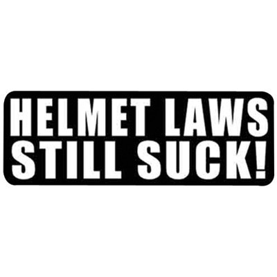 "Hot Leathers Helmet Sticker - ""Helmet Laws Still Suck!"" 4"" x 1"""