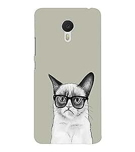 EPICCASE Nerdy Cat Mobile Back Case Cover For Meizu M3 Note (Designer Case)