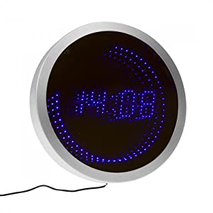 horloge pendule digitale murale led high tech. Black Bedroom Furniture Sets. Home Design Ideas