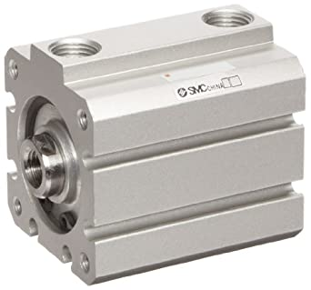 SMC NCQ8 Series Aluminum Air Cylinder, Compact, Double Acting, Both Ends Tapped Mounting, Not Switch Ready, No Cushion
