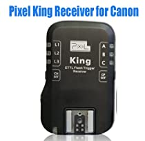 PIXEL King Wireless Radio E-TTL II E-TTL Flash Trigger for Canon DSLRs & Flashes (Receiver Only)