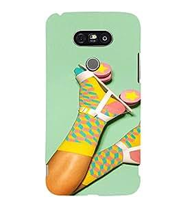 PrintVisa Colorful Girly Roller Skates and Socks 3D Hard Polycarbonate Designer Back Case Cover for LG G5