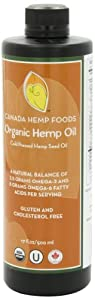Canada Hemp Foods, Organic Hemp Oil, 17 Fluid Ounces by Canada Hemp Foods
