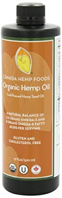 Canada Hemp Foods, Organic Hemp Oil, 17 Fluid Ounces by Canada Hemp Foods