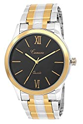CAMERII Analogue Golden & Black Mens Watch - WM95