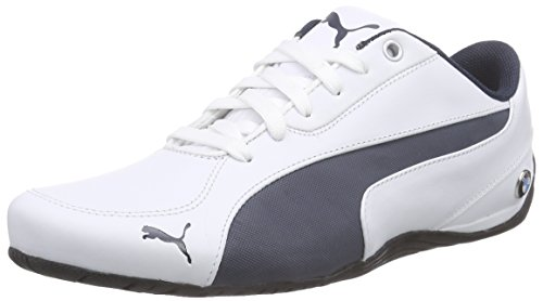 Puma-Mens-Bmw-Ms-Drift-Cat-5-Nm-2-White-and-Bmw-Team-Blue-Leather-Safety-Shoes-7-UKIndia-405-EU