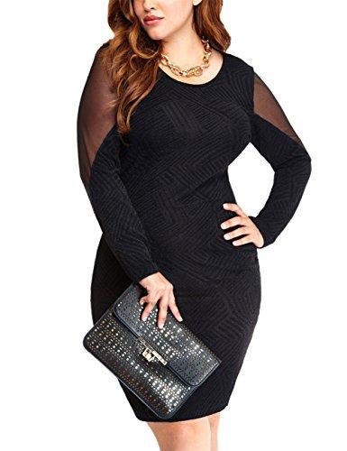 amz-plus-women-plus-size-long-sleeve-bodycon-night-evening-dress-black-3xl