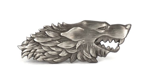"Dire Wolf Tie Clip ""Game of Thrones"""