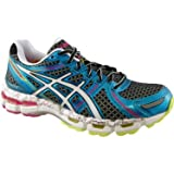 ASICS Womens Gel-Kayano 19 Running Shoe,Black/White/Flash Pink,8 M US