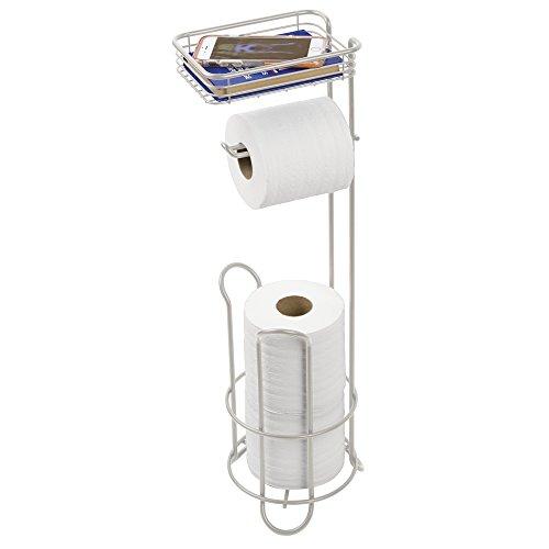 mDesign WC-Rollenhalter mit Ablage, Stahl