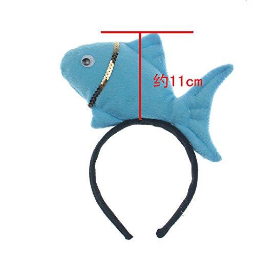 [Skue Christmas Costume Cosplay Animal Plush Fish Hair Headband Band] (Little Red Ant Costume)