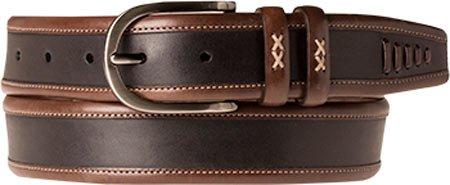 Mezlan Mens Handsome New Contrast Fashion Belt, BLACK/BROWN, 44 (AO9804)