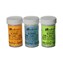 Micro Essential Lab 275 Hydrion Color Safe pH Buffer Capsule Set for pH Buffer Solutions, 4.0, 7.0 and 10.0 100mL Capacity