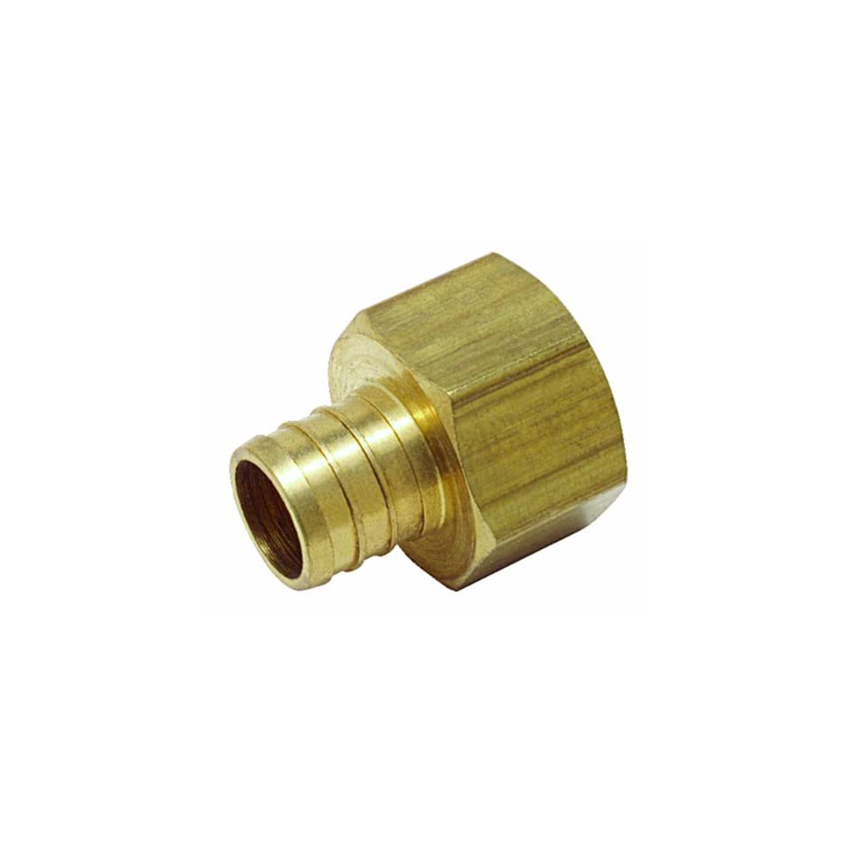 Watts PEX LFP 516 Female Adapter 1/2 Inch Barb x 3/4 Inch Fem Pipe Low Lead, Brass