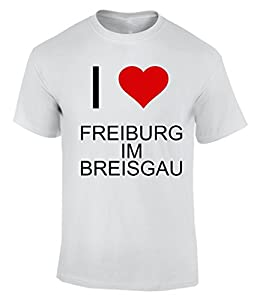 I Love FREIBURG IM BREISGAU T-Shirt Herren