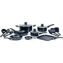 WearEver A787SG Complete Nonstick 16-Piece Cookware Set (Black)
