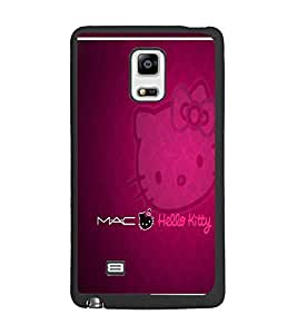 PrintDhaba Hello Kitty D-1305 Back Case Cover for SAMSUNG GALAXY NOTE 4 EDGE (Multi-Coloured)