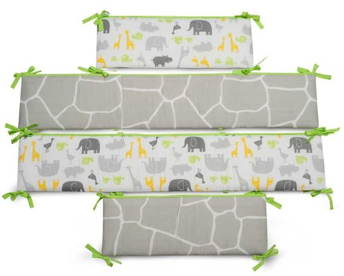Carter'S Zoo Animals All-Around Crib Bumper front-179306