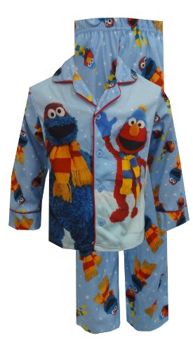 Sesame Street Elmo And Cookie Monster Toddler Pajamas For Boys (3T) back-862277