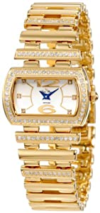Lucien Piccard Women's 26913YL Pinterry Diamond Accented Gold Tone Ion-Plated Stainless Steel Watch