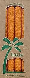 Aloha Bay Palm Tapers, Orange, 4 Count