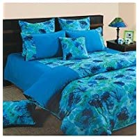 Swayam Shades Of Paradise Printed Cotton Single AC Comforter - Turquoise (ACS 11-6715)