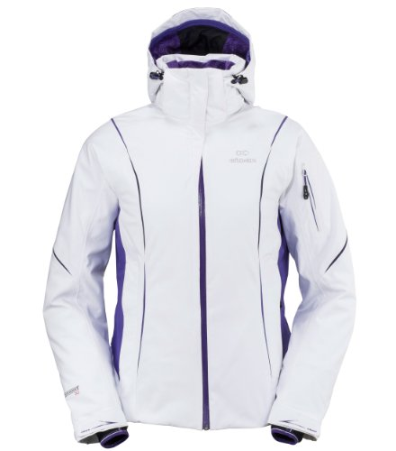 EIDER Damen Snowboardjacke Shiga, white/jacaranda purple, 44, EIV2356