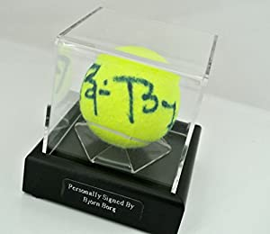 Sportagraphs Bjorn Borg Signed Autograph Tennis Ball Display Case Sport Memorabilia & COA PERFECT GIFT by Sportagraphs