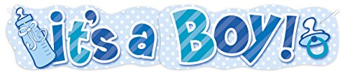 4.47ft It's A Boy Baby Shower Jointed Banner (Paper Goods For Baby Boy Shower compare prices)