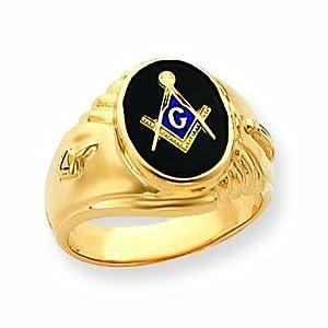 14k Mens Masonic Ring
