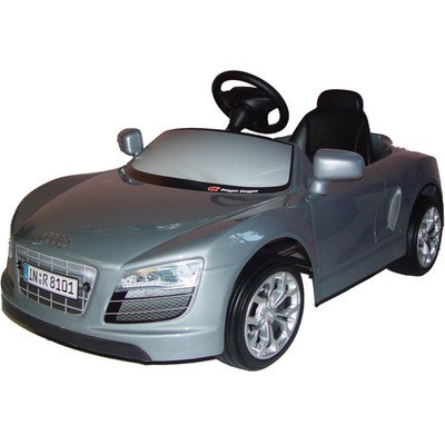 Big Toy Audi R8 12 Volt Car Riding Toy - Gray