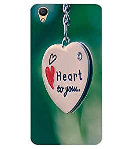 ColourCraft Love Heart Chain Design Back Case Cover for OPPO R9