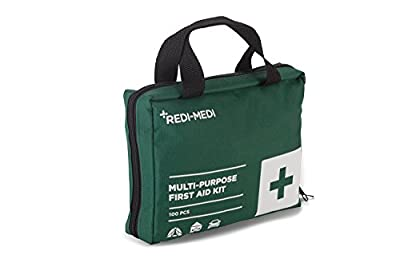 Tactical First Aid Kit: Redi-Medi 100-Piece First Aid Kit with Nylon-Canvas Bag, Green from Redi-Medi