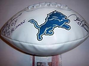 Billy Sims Signed Football - steve Owens Jsa coa - Autographed Footballs