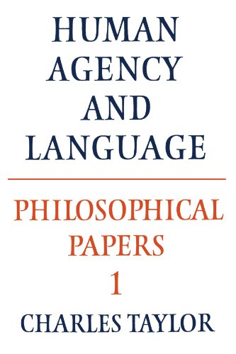 Philosophical Papers: Volume 1, Human Agency And Language (Philosophical Papers (Cambridge)) front-1055615