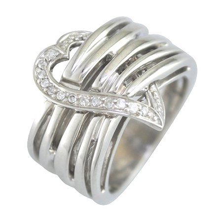 1/10 Ct. Heart Shaped Diamond Ring, Available in Sizes 4, 5, 6, 7, 8, & 9.