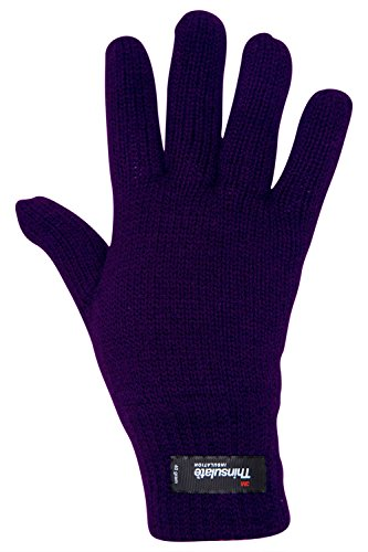 Mountain Warehouse Guanti in maglia da donna Thinsulate Viola