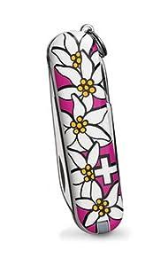 Victorinox Swiss Army Classic Edelweiss Pocket Knife (Pink)