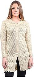 Montrex Women's Plain Coats (Montrex-6407Cream, Cream, XL)