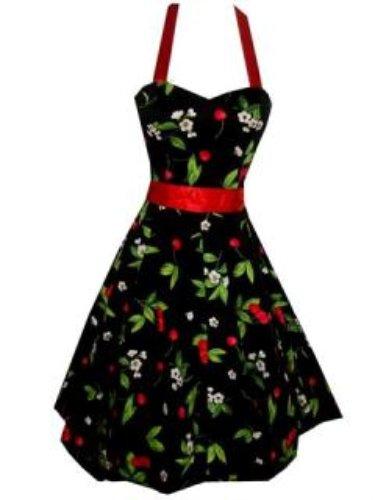 Cherry Rockabilly 50s Pin-Up Prom Swing Dress